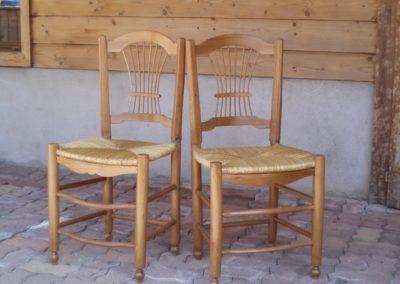Chaises refaites